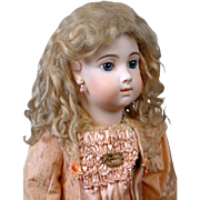 ~48 HOUR Half Price Sale!!~ Exquisite French Blond Hand Tied Human Hair Wig Circa 1890!