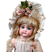 "19.5"" Kestner Pouty with XI Face on early Pull-String Body w/ Antique Wig, Dress, Shoes--MUST SEE!"
