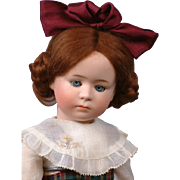 """14"""" Rare Gebruder Heubach 7246 Character Pouty Child Antique Doll"""