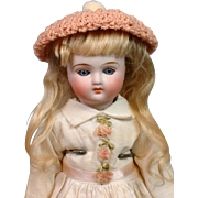 "Gorgeous Petite 9"" Closed-Mouth Belton Blue-Eyed Girl With Rare Original Molded Boots!"