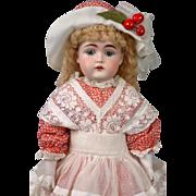 Gorgeous RARE Kestner Girl on Original Pink Body w/Rare Socks in Old Costume
