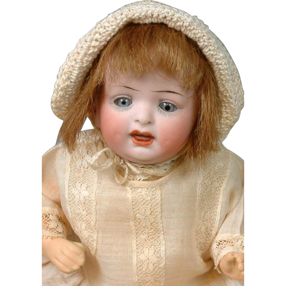 """*Little Angel* Petite Hertel & Schwabb 152 Character Baby 8"""" in All-Antique Costume"""
