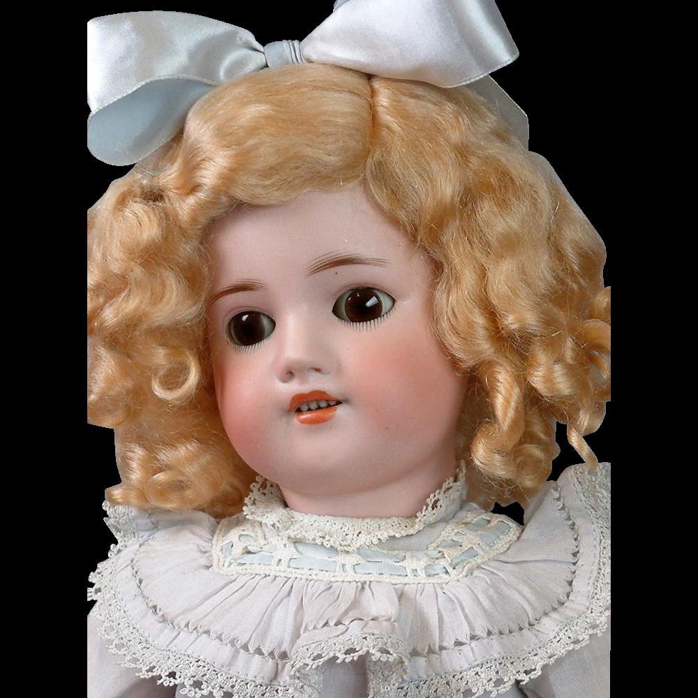 """*Alluring* 20.5"""" Simon & Halbig 540 Antique Bisque Bebe in Precious Costume!"""