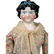 "*STUNNING* 23.5"" Dolly Madison c.1860 China Lady in Sublime Period Costume"