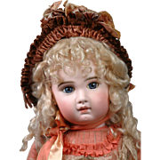 """28""""Rare Incised Depose Jumeau Bebe All Antique with Original Shoes & Two Fabulous dresses"""
