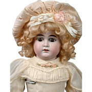 "ALL-ANTIQUE Costume Antique Louis & Wolf Pale Bisque Doll 23"" on Kidskin Body"