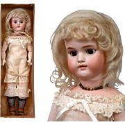"Exquisite ALL-ORIGINAL IN BOX Simon & Halbig 1079 ""Bendida"" Doll with Bisque Swivel Head"