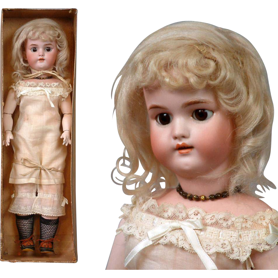 "~Thank You JKB~Exquisite ALL-ORIGINAL IN BOX Simon & Halbig 1079 ""Bendida"" Doll with Bisque Swivel Head"