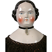 "Darling Big China Lady 30"" Antique Doll in Stunning Antique Costume"