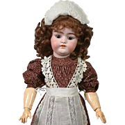 "*Delightful* 17"" Simon & Halbig 1079 Antique Bisque Doll in Antique Costume"