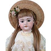 "*INCREDIBLE* Simon & Halbig 1079 Antique Bisque Doll 29"" with Extremely Rare Early Body!"