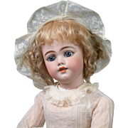 """26"""" The Most Beautiful SIMON & HALBIG 1009 Early Bisque Head Child Doll is all Antique circa 1900"""