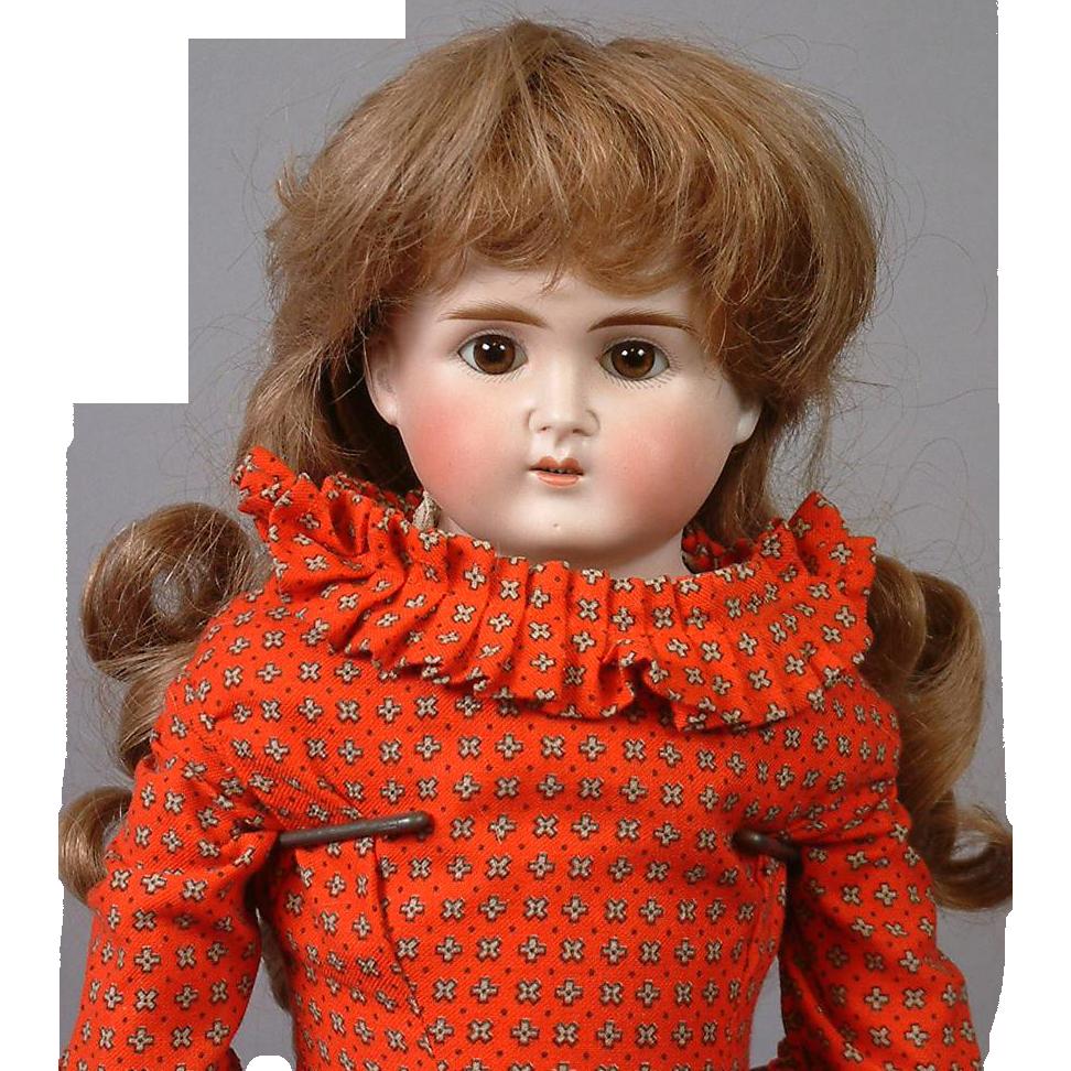 "21"" Alt Beck & Gottschalk Antique Turned-Head Doll with Beautiful Original Body"