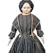 *The Alluring* Papier Mache Greiner c.1858 in Antique Costume with Provenance