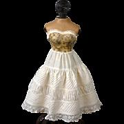 Exquisite Antique Half Slip or Ensemble Skirt c.1880 for Antique Lady Dolls