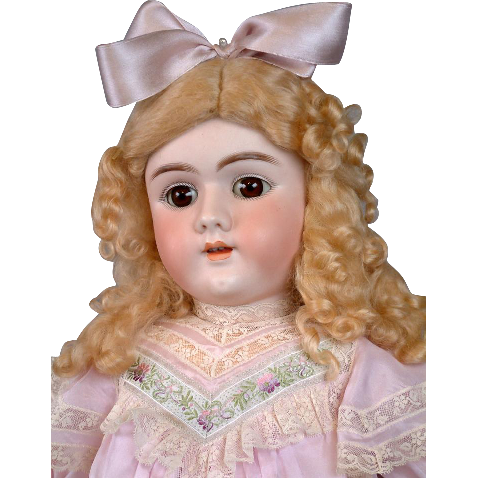 "Huge 28"" Handwerck Halbig 109 Antique Doll on Near-Mint Original Body"