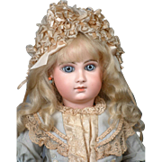 "Rare & Desirable 24"" Early Jumeau Bebe Size 10 with Captivating Face! JUST WOW!"