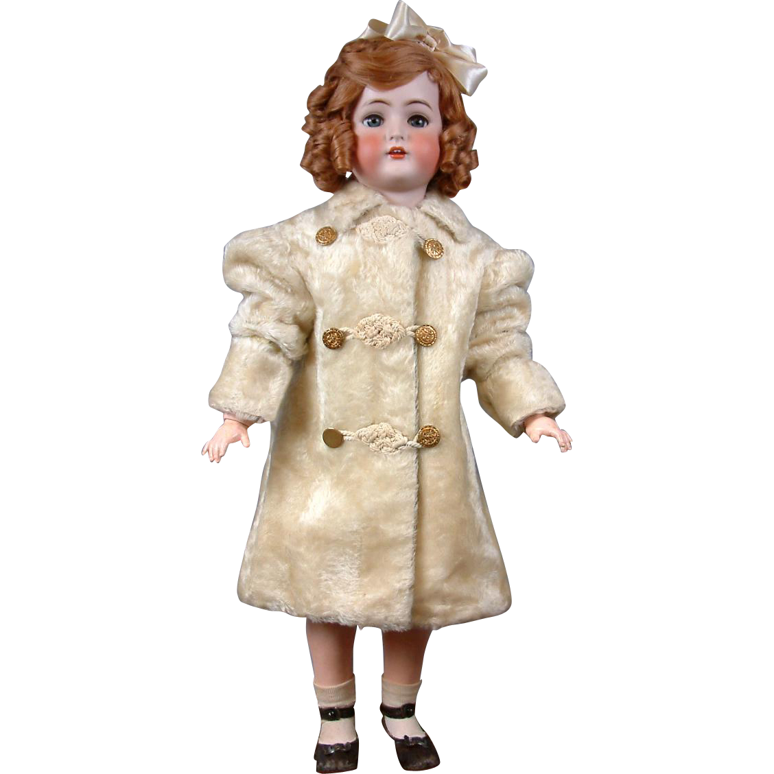 Delightful Victorian Mohair Coat For Large Doll Circa 1895