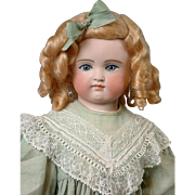 *So Beautiful* Gebruder Kuhnlenz Turned-Head Bisque Doll with Leather Arms