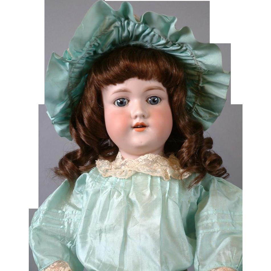 "*Big & Charming* 25"" Armand Marseille 390 Antique Bisque Doll with Original Wig"