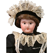 "Adorable Maid 12"" SFBJ 60 French Girl in Antique Original Dress"