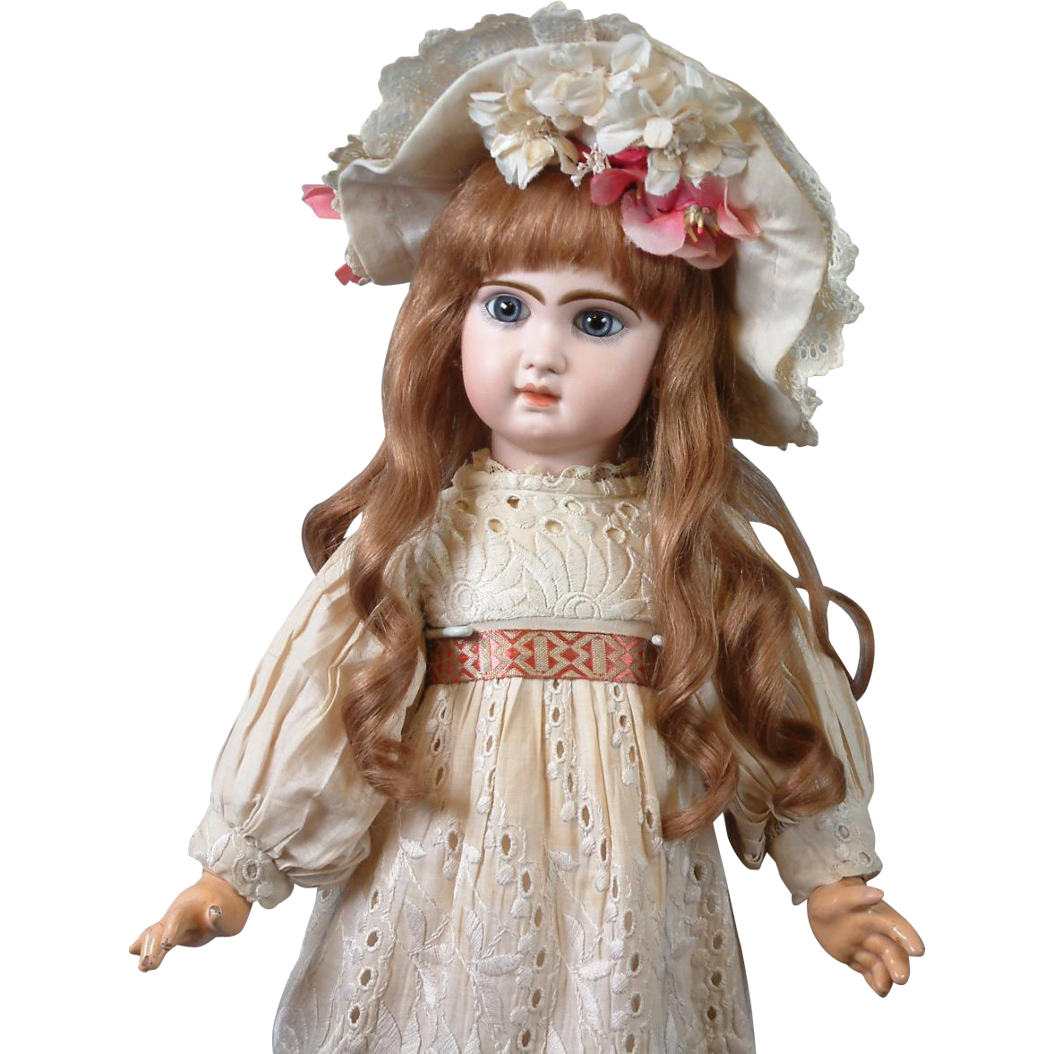 "Fabulous 24"" Closed Mouth Tete Jumeau Bebe With Stunning Blue Eyes!"