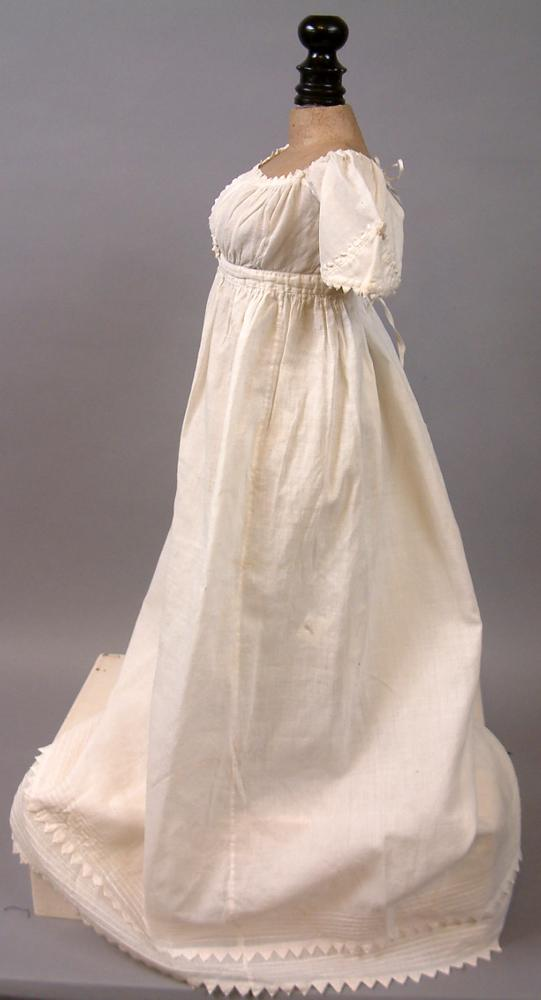 Early Regency Period Antique Baby Dress C 1830 With