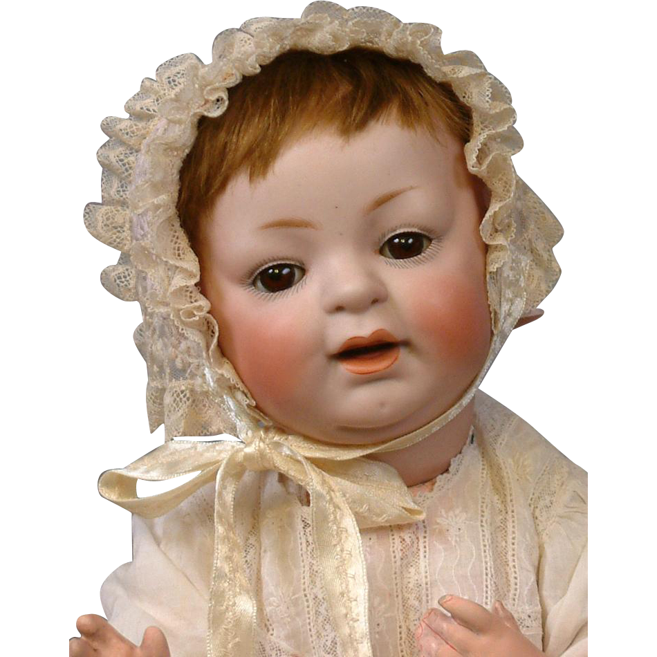 "Chunky ""Sammy"" Kestner 211 Character Baby 16"" with Original Antique Wig"