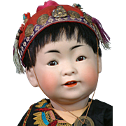 "16"" Oriental Asian 243 Kestner Character Boy to Represent a Chinese Baby--He's Just Too CUTE!"