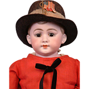 "Charming American Schoolboy 22"" Antique Boy German Doll"