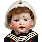 "Delightful 25"" Kley & Hahn 167 Character Boy in Sailor Costume"