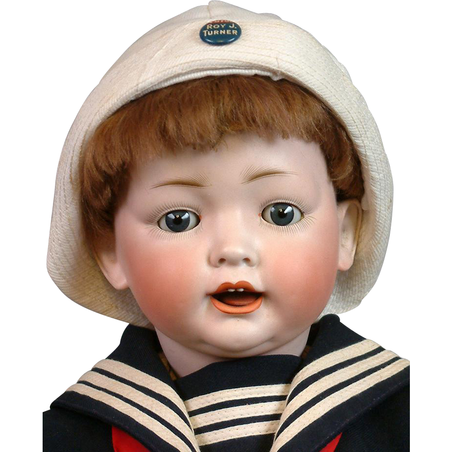 "~THANK YOU GB~Delightful 25"" Kley & Hahn 167 Character Boy in Sailor Costume"