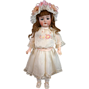 "Extremely Sweet Kammer & Reinhardt 403 Antique Bisque Girl 23"" in White Lacy Costume"