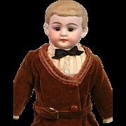 "Delightful American Schoolboy 12.5"" in Original Antique Costume-- Excellent Display Size!"