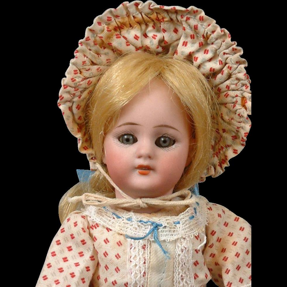 """8.5"""" Simon & Halbig 1078 Antique Bisque Doll in Factory-Original Costume"""