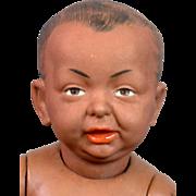 """16"""" Kammer & Reinhardt 100 So-Called """"Kaiser Baby"""" Bisque Doll in RARE Black Version"""