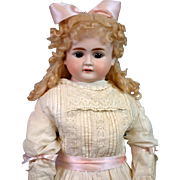 "31"" Alt Beck & Gottschalk Turned-Head Antique Doll in Antique Dress & Undergarments"