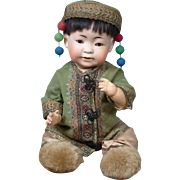 """PERFECT 16.5""""  243 Kestner Character Boy to Represent a Chinese Baby--He's Just Too CUTE!"""