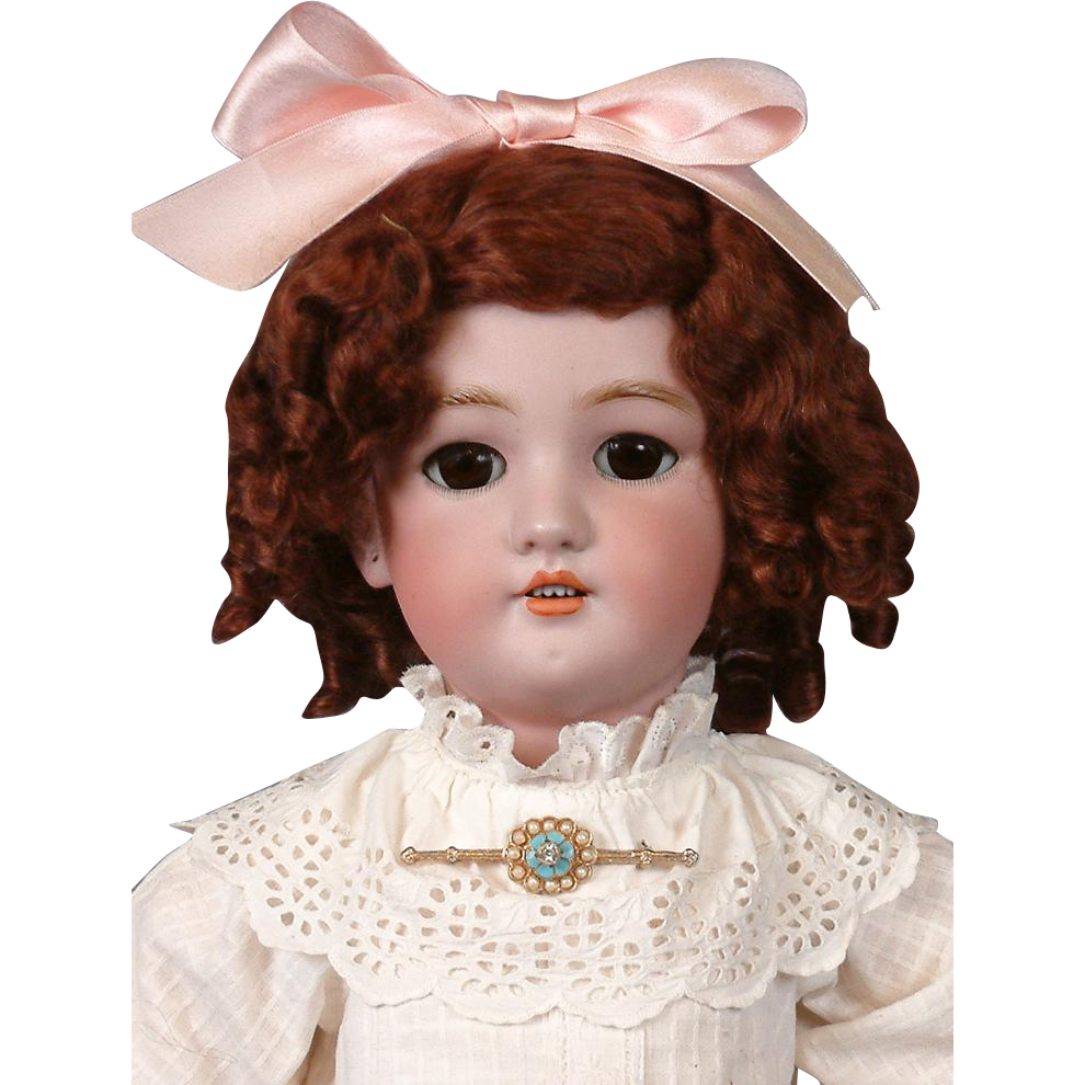 """Jutta"" Simon & Halbig 1349 Antique Child Doll 23"" in Antique Dress"
