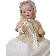 "DELICIOUS 21"" JDK Kestner Character Baby With Extreme Deep Modeling~ MINT BISQUE"