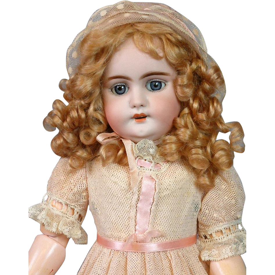 "RARE Simon & Halbig / Gans and Seyfarth DEP Antique Doll 17"" MINT Body"