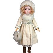 "*Winter Wonderland* Hertel & Schwabb 136 21.5"" Antique Doll"