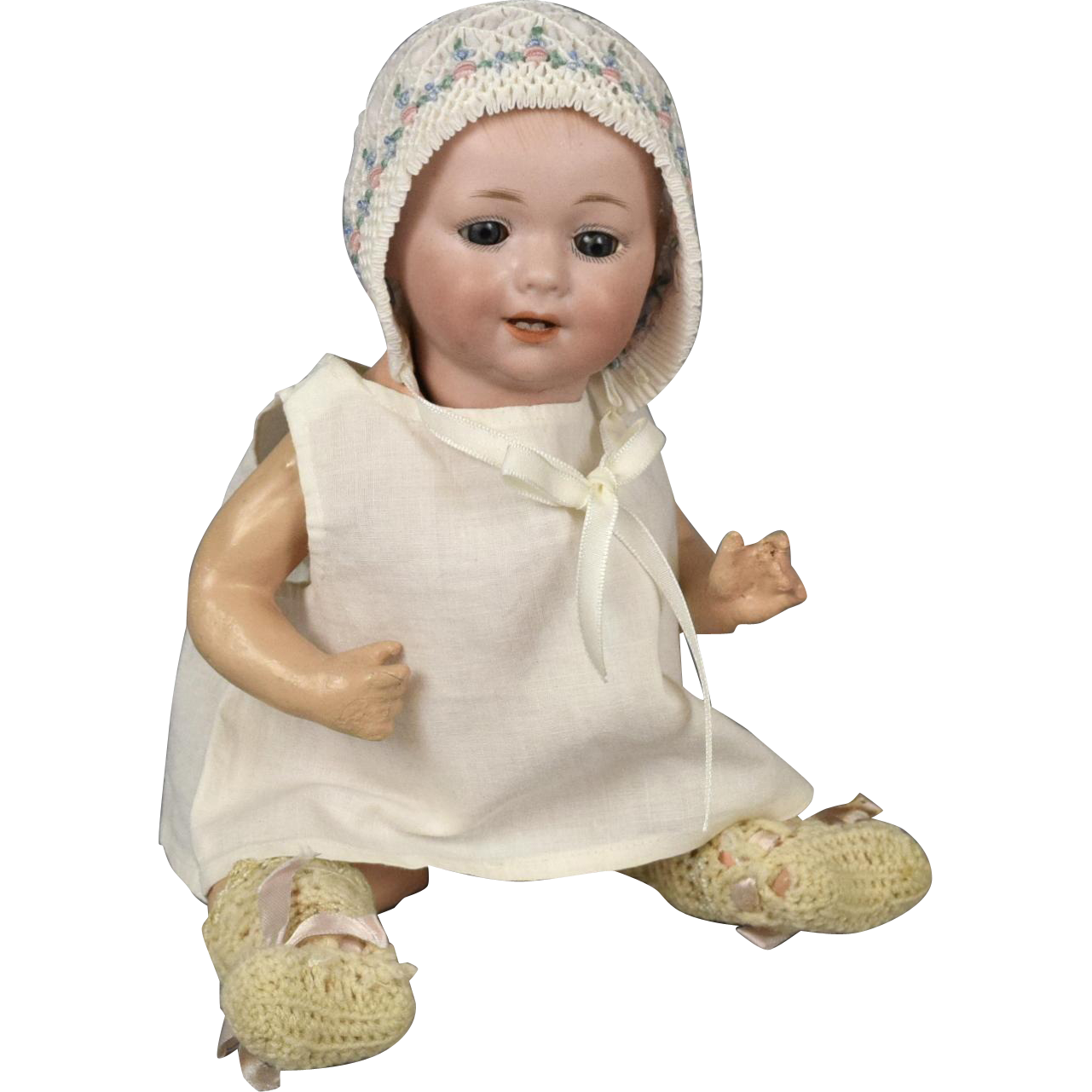 "Darling 10"" Antique Armand Marseille and George Borgfeldt German Character Baby Doll"