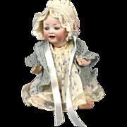 "Precious 9"" Antique Hertel and Schwab German Character Baby Doll"