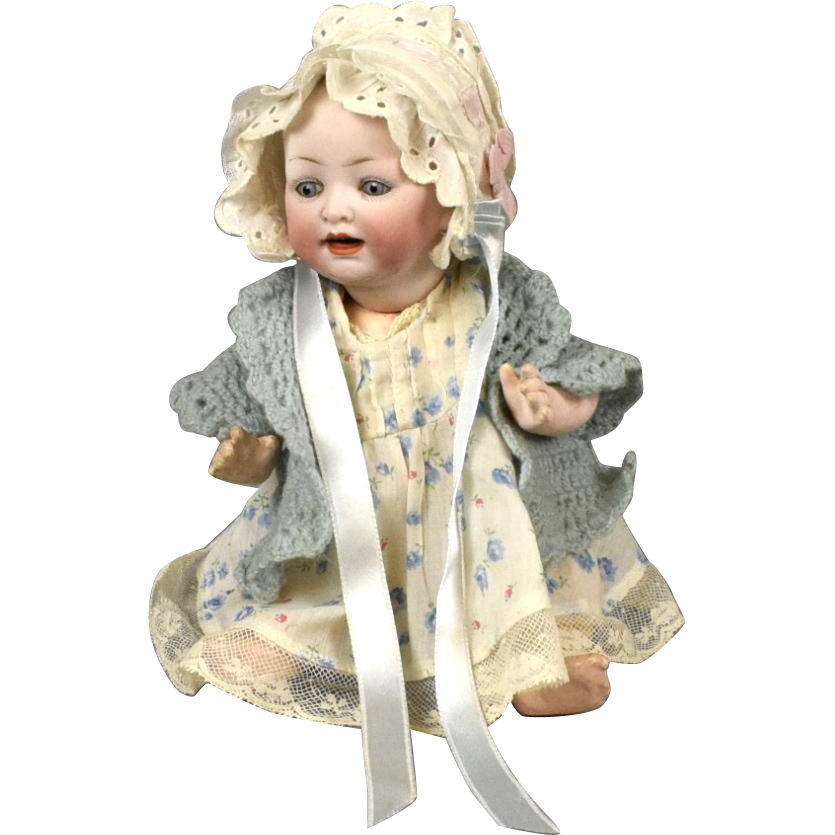 "Precious 9"" Antique Hertel and Schwab German Character Baby Doll"