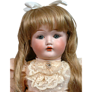 "Fulper 20"" American Antique Bisque Doll with Blue Eyes"