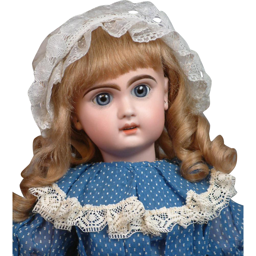"22.5"" French Tete Jumeau Bebe with Large Blue Paperweight/Sleep Eyes"