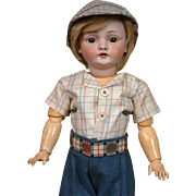 *Farmer Boy* Kestner 143 Antique Bisque Character Boy Doll 19.5""