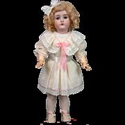 "Kestner 171 Antique Bisque Doll 22.5"" in Factory Muslin Chemise"