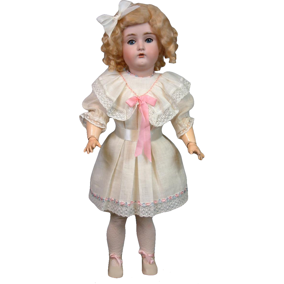 "Kestner 171 Antique Bisque Doll 22.5"" in Factory Muslin Chemise"